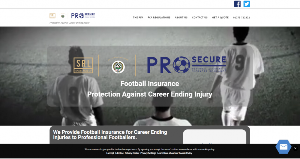Football Insurance - Career Ending Injury - Special Risks - Pro-Secure