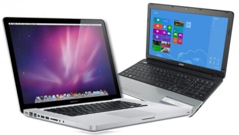 Apple Macbook and Acer Windows Laptop