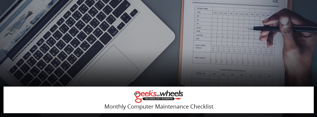 Monthly Computer Maintenance Checklist